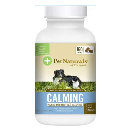 Pet Naturals of Vermont calming chews dog anxiety medications
