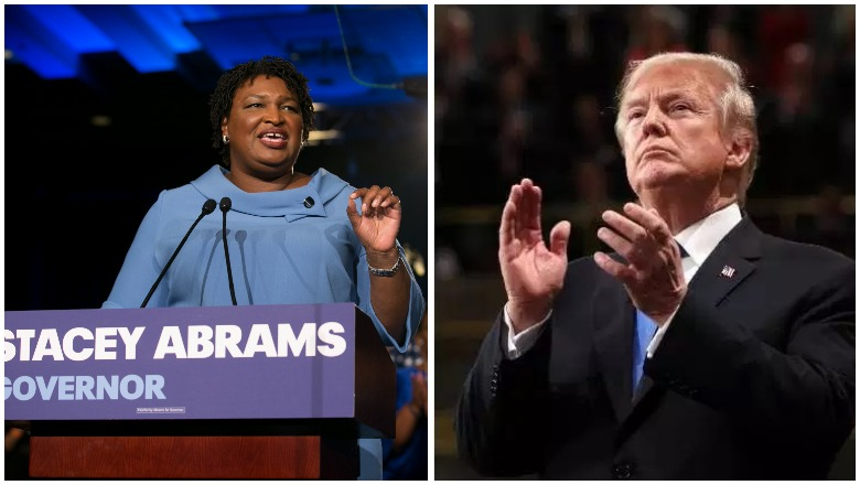 Stacey Abrams vs Donald Trump