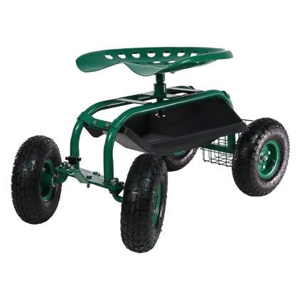 rolling garden scooter