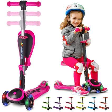 Scooter for Kids with Foldable and Removable Seat