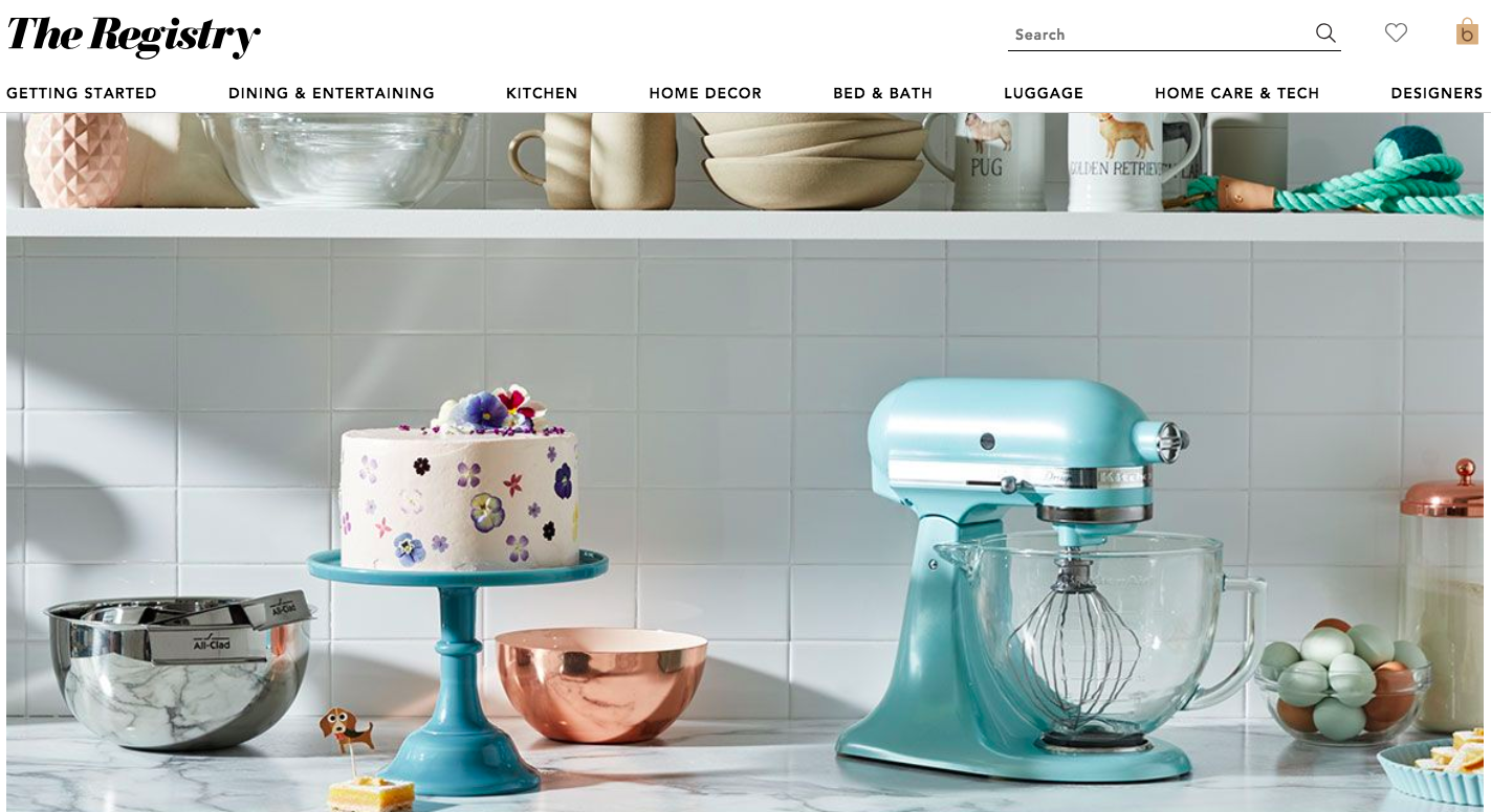 Bloomingdales wedding registry