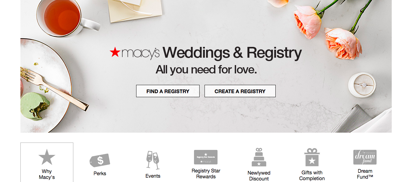 Macys wedding registry