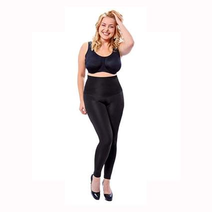 black plus size shaping leggings