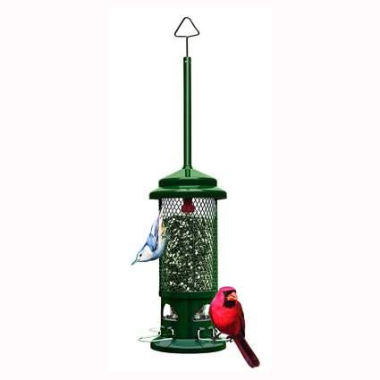 squirrel proof metal bird feeder