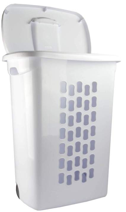 STERILITE Wheeled Hamper with Handles and Wheels