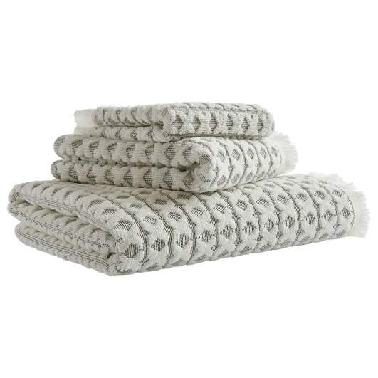 stone and beam criss cross cotton towel set