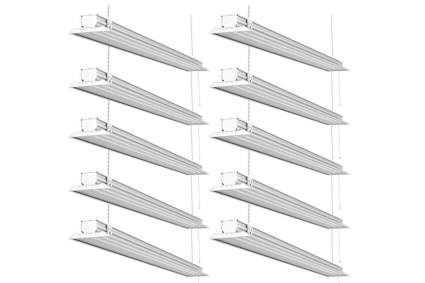 Sunco Lighting 10 Pack Flat LED Shop Light