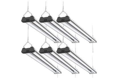 Sunco Lighting Linkable 40W 4FT LED Shop Light (Pack of 6)