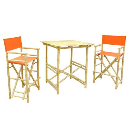 tall bamboo bistro set