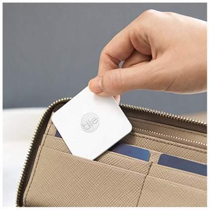 White tile slim in wallet