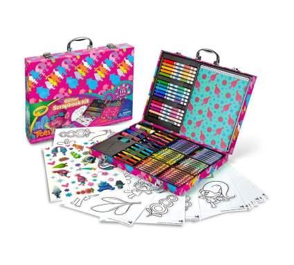 trolls glitter scrapbooking kit