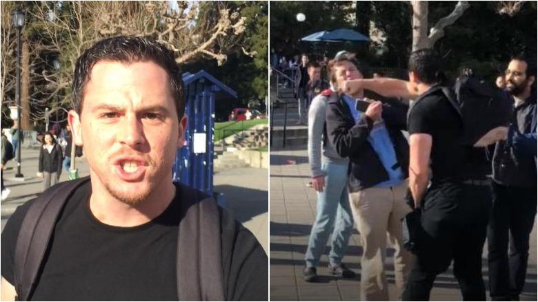 uc berkeley tpusa talking points usa assault attack punch video