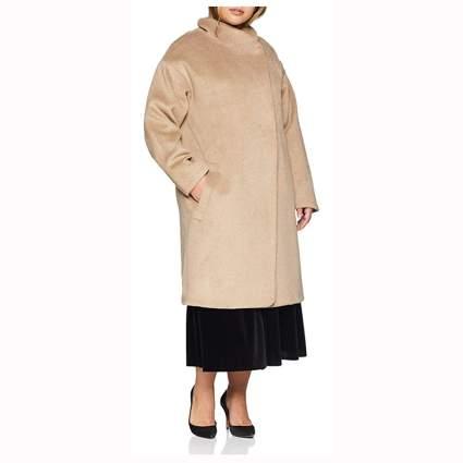 classic plus size camel coat