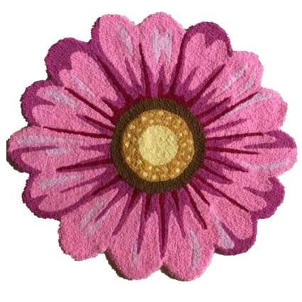 USTIDE Pink Handmade Sunflower Rug