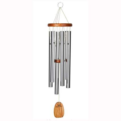 wood and aluminum outdoor wind chime