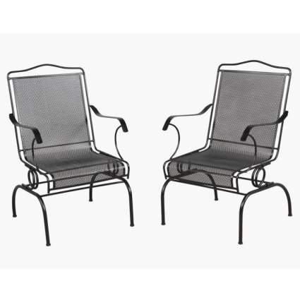 wrought iron rocking chairs