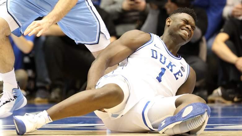 Zion Williamson torn shoe