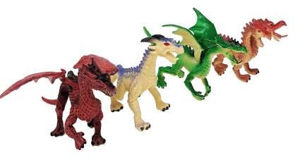 4 piece dragon figures