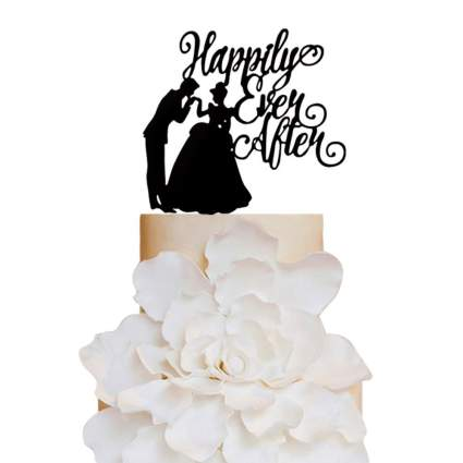 Happily every after Wedding Cake Topper