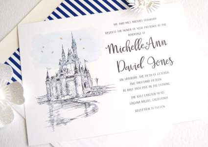 Disney World Castle Inspired Invitations Package