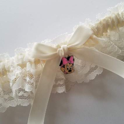 Minnie Mouse Charm Garter