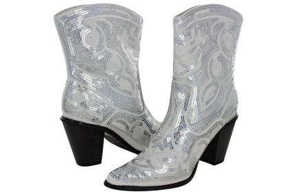 Sequin Western Cowgirl Boots