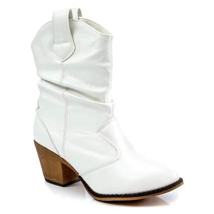 White Modern Western Cowboy Boot