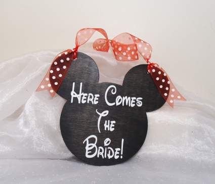 Mickey Mouse Wedding Sign