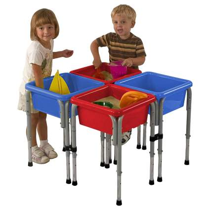 Assorted Colors Sand and Water Adjustable Activity Play Table