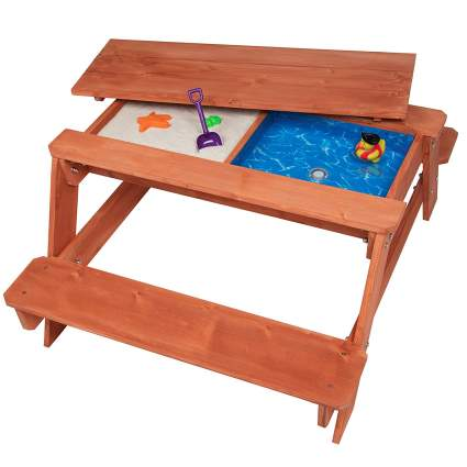 All in One Convertible Picnic, Sand and Water Table w/ Removable Top
