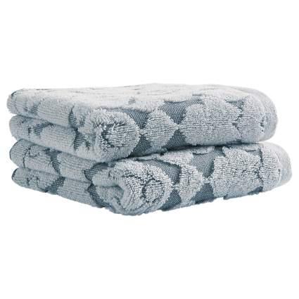Stone & Beam Flora Jacquard Cotton Hand Towel Set
