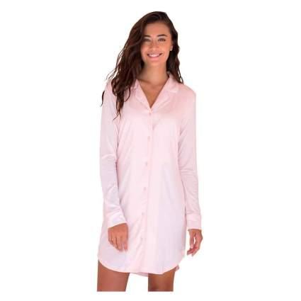 pink bamboo boyfriend nightshirt