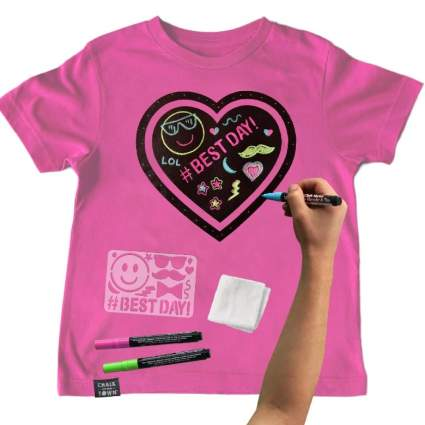 Chalk of the Town Pink Heart Chalkboard T-Shirt