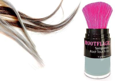 Rootflage touchup powder with pink brush