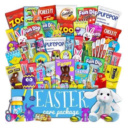 basket filled with snacks