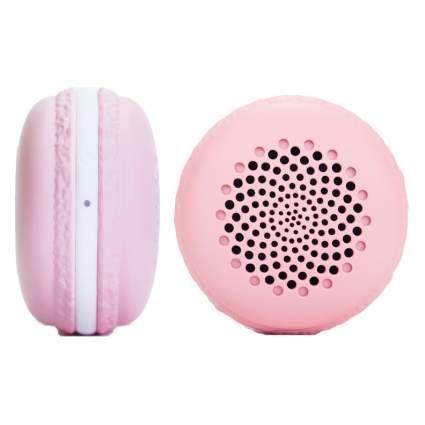 pink macaron speaker