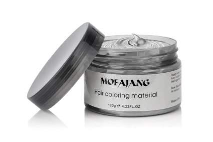 silver hair wax