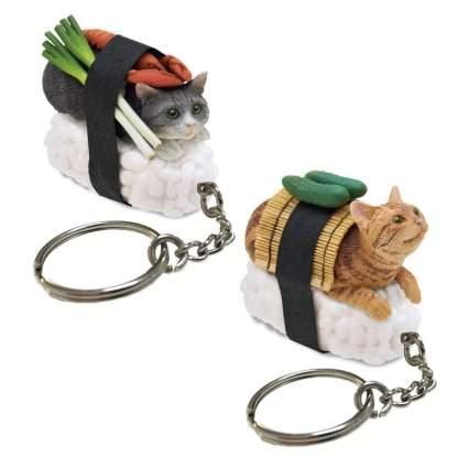 sushi cat keychains
