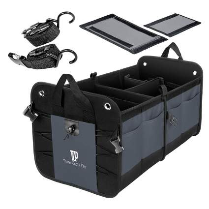 black and gray trunk organizer
