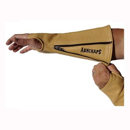 leather protective arm chaps