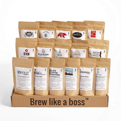 many bags of coffee set