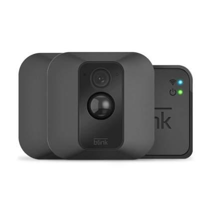 Black security cameras