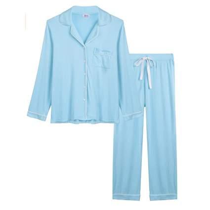 blue man style bamboo pajamas