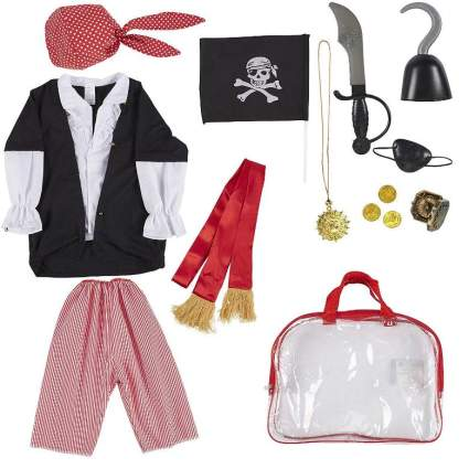 Blue Panda Kids Pirate Costume for Boys