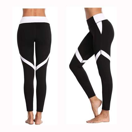 black and white high waisted leggings