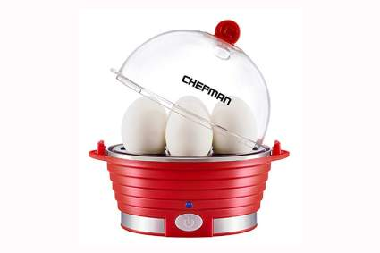 red electric egg cooker