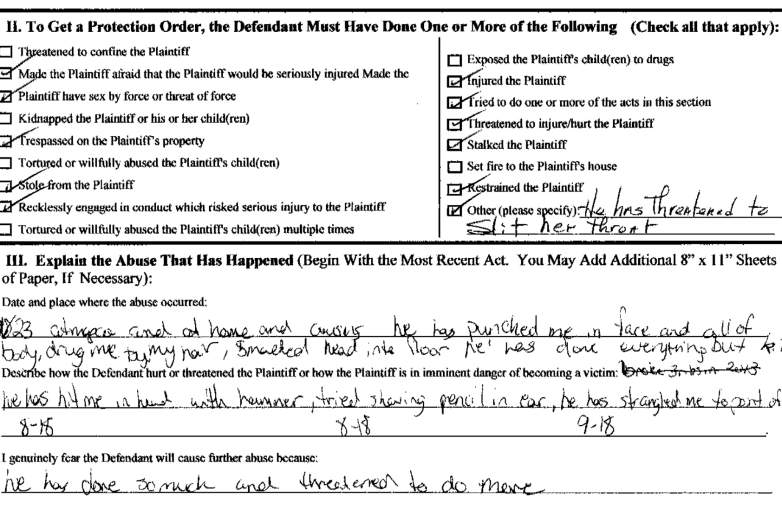 christopher madison protective order