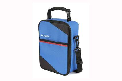 blue upright lunch pack with hard liner