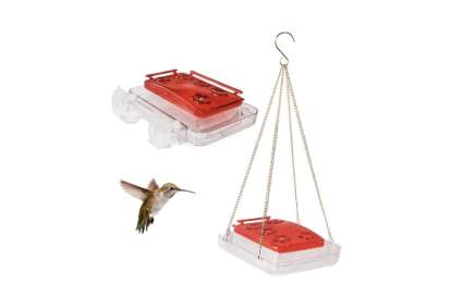 Cuboid - Insect-proof Hummingbird Feeder 2-in-1, Attached to Window or Hung on Tree
