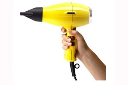 yellow inic ceramic blow dryer